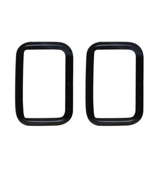 """Everything Mary Black 1.5"""" Rectangle Rings-2pk"""