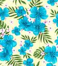 Gertie Poplin Fabric 44\u0027\u0027-Tropical on Yellow
