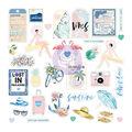 Santorini Ephemera Cardstock & Acetate Die-Cuts 55/Pkg-Shapes, Words