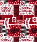 Indiana University Hoosiers Cotton Fabric -Winter