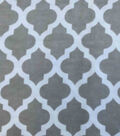 Snuggle Flannel Fabric -Grey Moroccan