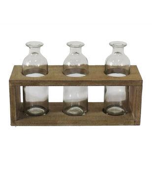 Simply Spring Wooden Multi Vase Holder