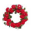 Fresh Picked Spring 22\u0027\u0027 Geranium Wreath-Red