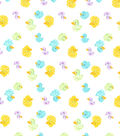Snuggle Flannel Fabric -Multicolor Rubber Ducks