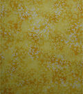 Premium Cotton Fabric 44\u0022-Yellow Tonal Vines