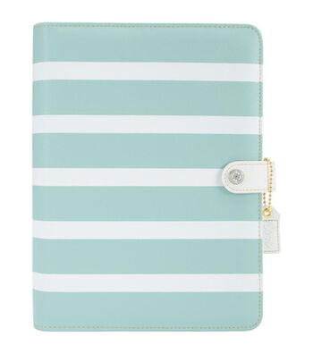 Webster's Pages Color Crush A5 Faux Leather Planner Kit-Teal Stripes