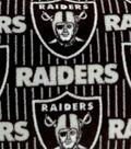 Oakland Raiders Fleece Fabric -Logo