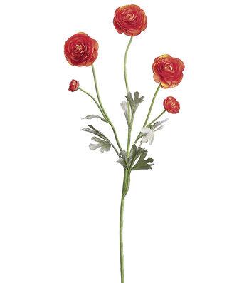 "Bloom Room 28"" Ranunculus Spray-Orange"