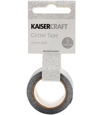 Kaisercraft 0.5''x16.5' Glitter Tape-Silver