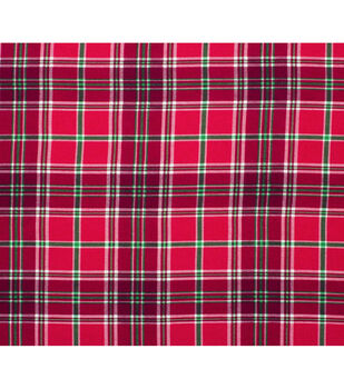 Super Snuggle Flannel Fabric-Holly Plaid