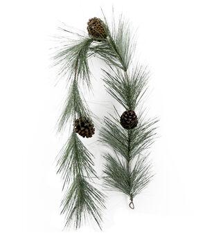 Handmade Holiday Christmas 66'' Longleaf Pine & Pinecone Garland