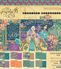 Graphic 45 Double-Sided Paper Pad 12\u0022X12\u0022-Midnight Masquerade