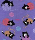 Snuggle Flannel Fabric 42\u0022-Kitties & Yarn