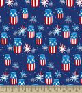 Patriotic Mason Jar Print Fabric