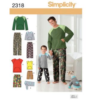 Simplicity Pattern 2318A S - L / S -Simplicity Men Boy