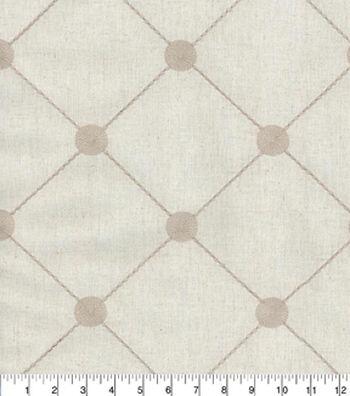"Kelly Ripa Home Multi-Purpose Decor Fabric 54""-Fanfare Embroidery Pebble"