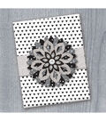 K&Company Black And White Medallion Gift Embellishment