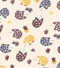 Snuggle Flannel Fabric -Hedgehogs On Cream