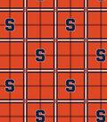 Syracuse University Orange Flannel Fabric 42\u0022-Plaid