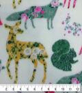Anti-Pill Plush Fleece Fabric-Floral & Woodland Animals