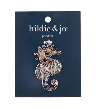 hildie & jo Shell & Zinc Alloy Seahorse Pendant