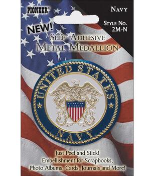 Pioneer Military Medallion Embellishments-Navy