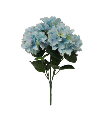 Fresh Picked Spring 19'' Hydrangea Bush-Light Blue