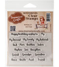 Dreamerland Crafts Sentiments Clear Stamp Set 3\u0027\u0027x4\u0027\u0027-Birthday 01