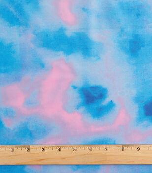 "Cosplay by Yaya Han Spandex Fabric 57""-Shibori Watercolor Foil Blue"