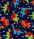 Snuggle Flannel Fabric -Super Dinosaurs
