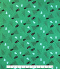 Doodles Christmas Cotton Fabric 57\u0022-Red, Black & Green Holiday Trees