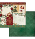 Yuletide Carol Double-Sided Cardstock 12\u0022X12\u0022-Festive
