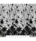 Casa Embellish 3D Fabric with Pearls 55\u0027\u0027-Black Floral