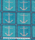 Anti-Pill Fleece Fabric 59\u0027\u0027-Anchor Patchwork