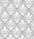 Quilter\u0027s Showcase Fabric -Light Gray Damask