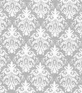 Quilter\u0027s Showcase Fabric 44\u0027\u0027-Light Gray Damask