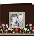 Pioneer Designer Printed Raised Frame Garden Post Bound Album 12\u0027\u0027x12\u0027\u0027