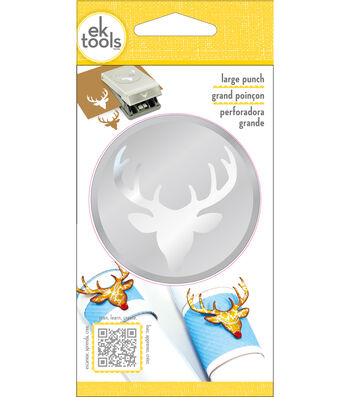 EK Tools Christmas Large Punch-Deer Head