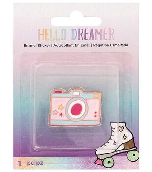 American Crafts Hello Dreamer Camera Adhesive Enamel Sticker