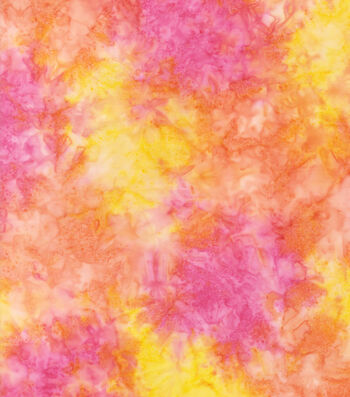 "Legacy Studio Indonesian Batiks Cotton Fabric 44""-Water Color Sunset"