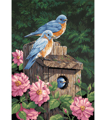 "Dimensions Paint By Number Kit 14""x20"" Garden Bluebirds"