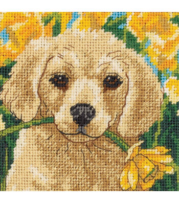 Dimensions Puppy Mischief Mini Needlepoint Kit