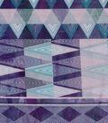 Modern Cotton Fabric 43\u0027\u0027-Purple Geometrics Stripes