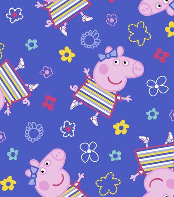"Peppa Pig Fleece Fabric 59""-Stripes"