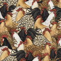 Novelty Cotton Fabric-Cocktail Feathers