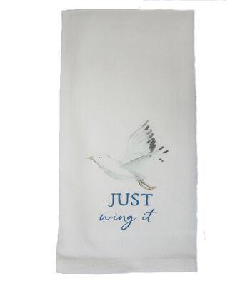 Indigo Mist Birds Pun Towel