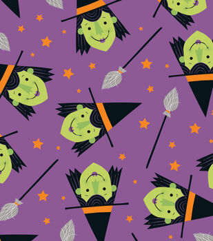 Maker's Halloween 60'' Round Tablecloth-Witches