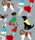 Snuggle Flannel Fabric -Doggies with Sweater
