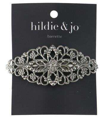 hildie & jo Cut Out Flower Silver Barrette
