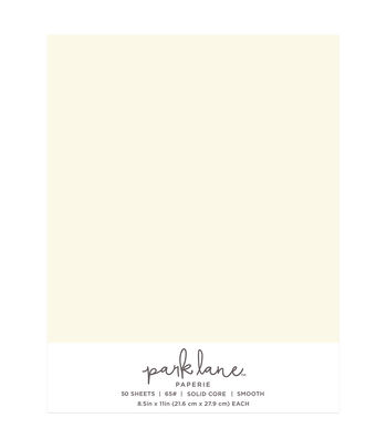 Park Lane 50 pk 8.5''x11'' Value Papers-Ivory